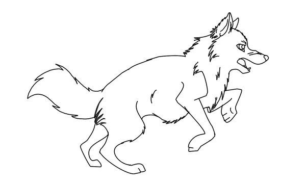 Wölfe Ausmalbilder Malvorlagen Animierte Bilder Gifs