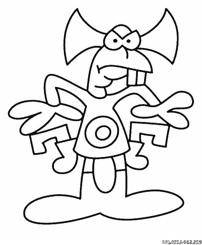 animiertes-alien-ausserirdischer-ausmalbild-malvorlage-bild-0006