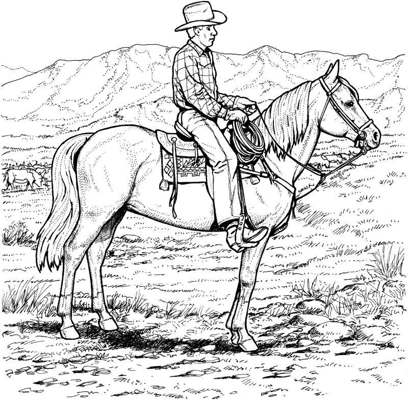 Cowboys Ausmalbilder Malvorlagen Animierte Bilder Gifs