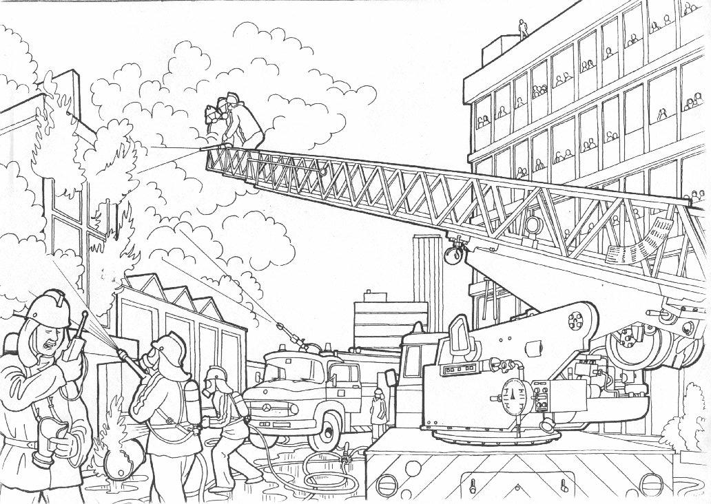 Feuerwehr Ausmalbilder Malvorlagen Animierte Bilder