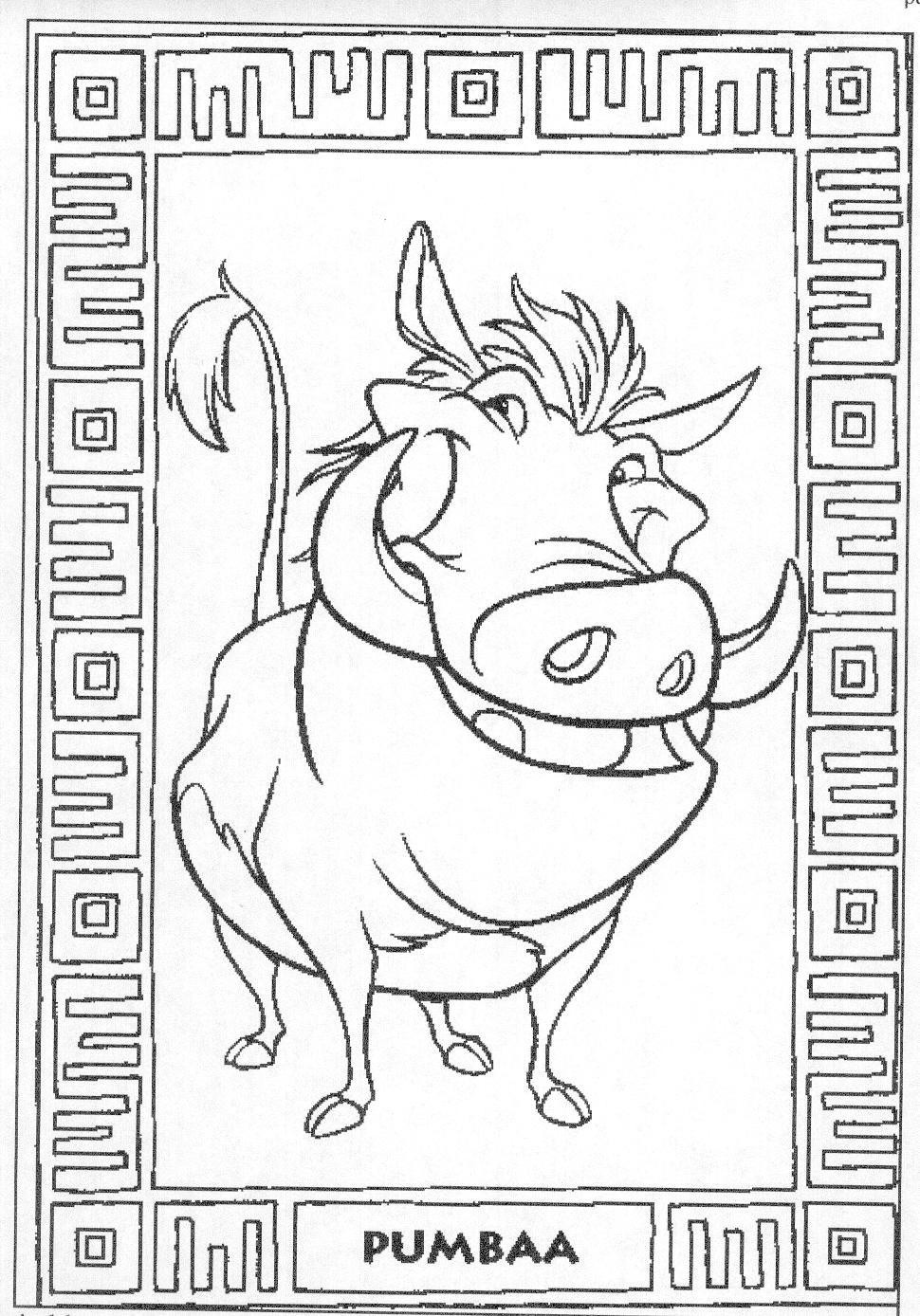 der könig der löwen ausmalbilder  malvorlagen animierte