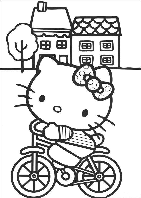 Hello Kitty Ausmalbilder Malvorlagen Animierte Bilder Gifs